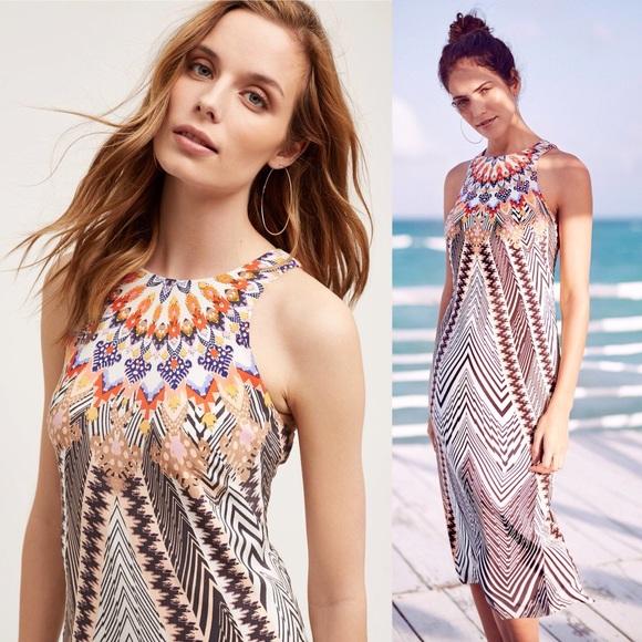 273ce696bf97 Anthropologie Dresses   Skirts - ANTHROPOLOGIE HD in Paris Solstice Silk  Dress Boho